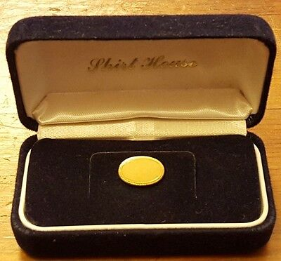 Vintage, Shirt House, Brass, Tie Tack (Can be engraved) (NOS)
