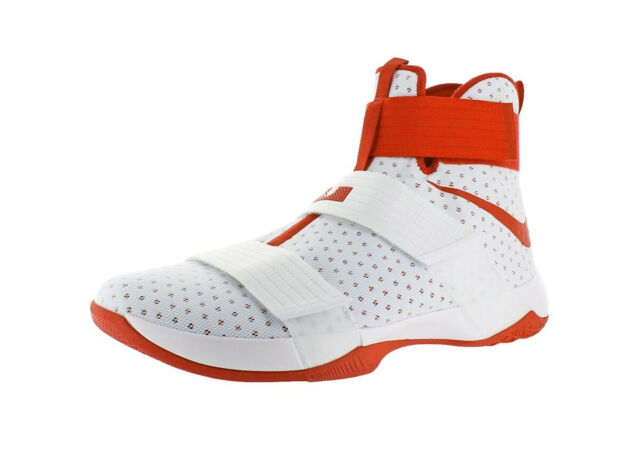 detailed look fb137 54243 Nike Lebron Soldier 10 TB Promo Basketball Shoes White Orange 856489-180 Mens  18