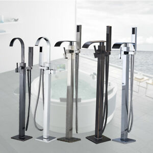 Barthroom Tub Filler Faucet Floor Mounted Bathtub Shower Faucet Free Standing 1