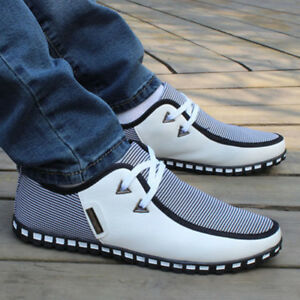 Mens-Canvas-Shoes-Non-slip-Oxfords-Casual-Business-Shoes-Sneakers-Running-Shoes