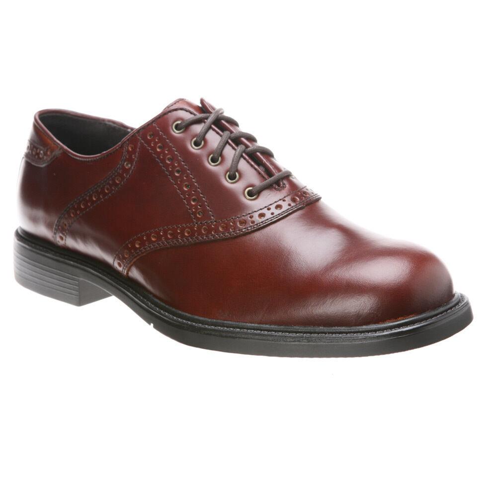 Nunn Bush Men's MACALLISTER Plain toe leather Brown shoes 84046-200