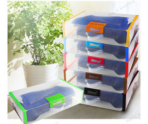 Large Long Storage Shoe Boxes Clear Organiser Long Boots