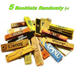 Details about 5×32 sheets King Size Slim Pure Hemp Cigarette Tobacco  Rolling Papers Combo Pack