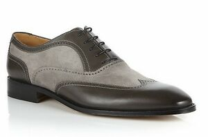bc151b2a0 Image is loading Handmade-Men-wingtip-gray-and-black-shoes-Men-
