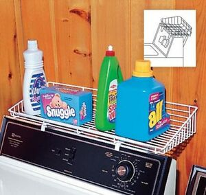 Image Is Loading Storage Shelf Laundry Room Over Washer Dryer Organizer