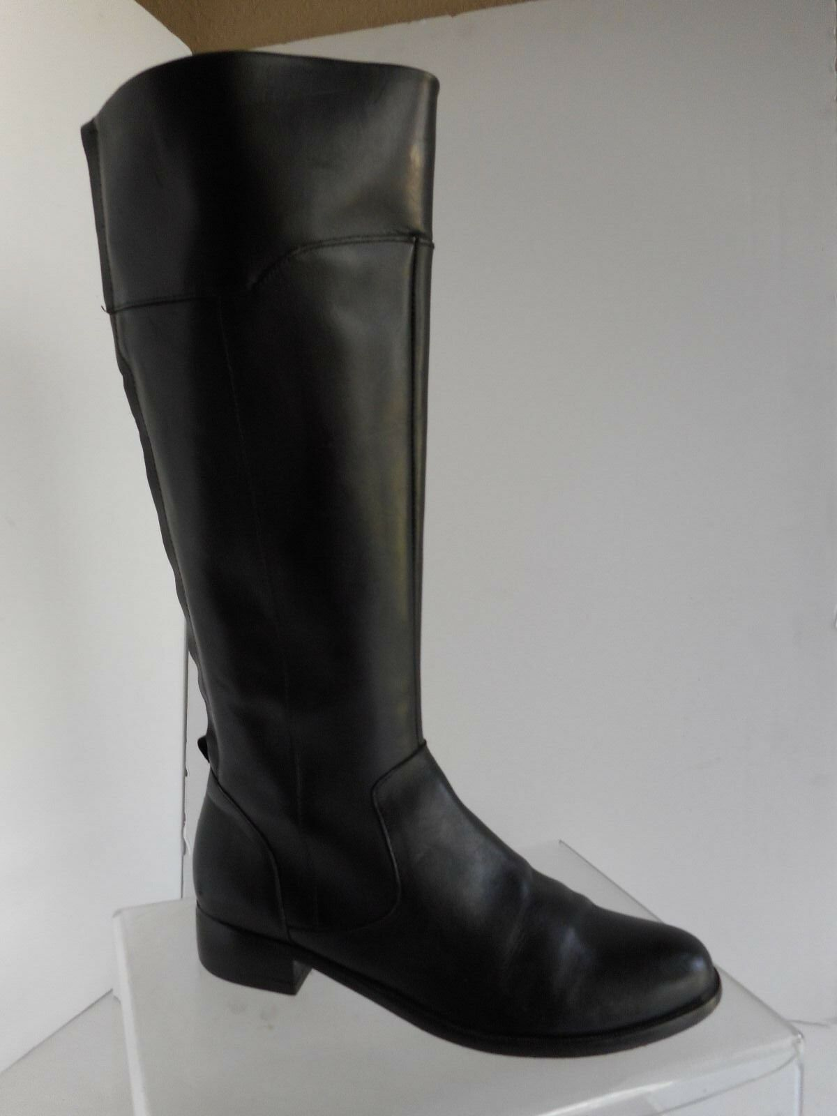 Corso Como Samual Women's Sz 6.5 Black Leather Knee High Tall Riding Boots