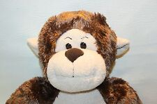 "Build a Bear Brown Monkey Plush Stuffed Animal Lovey Jungle Nursery Decor  19"""
