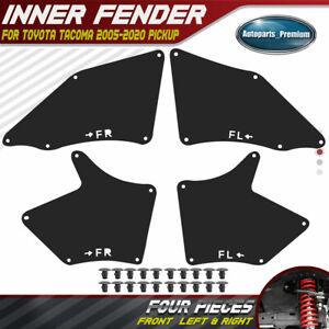 4PCS Fender Liners Seal Flaps Guard Splash Shield for Toyota Tacoma 05-20 Pickup