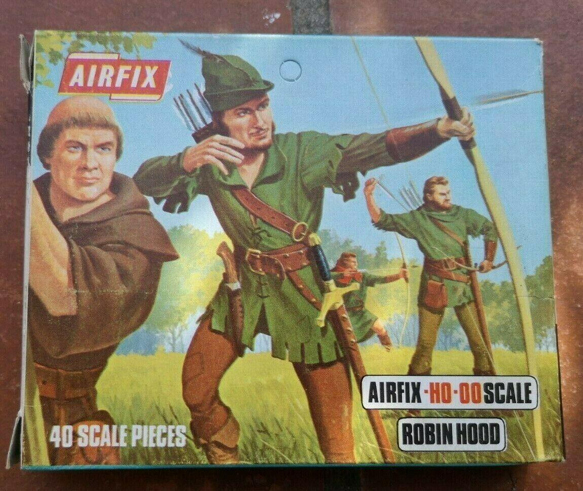 AIRFIX - S20-59  ROBIN HOOD - Jahr RARE Blau-BOX - Spielzeug SOLDIERS ON SPRUES