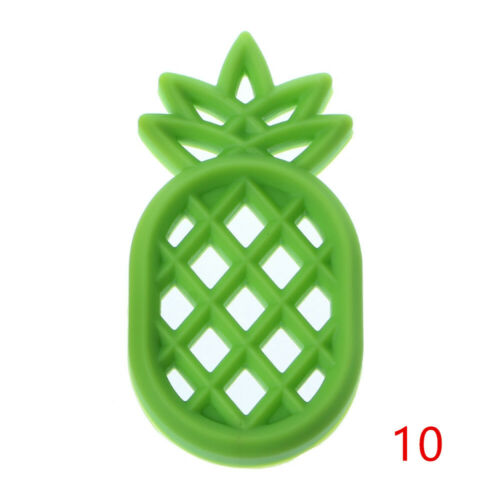 Chew Beads Silicone Pineapple  Pacifier Chain Pendant Baby Teethers Bite Toys