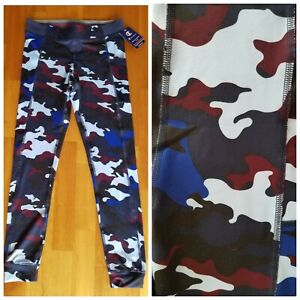 New CHAMPION Camo Yoga Pants Leggings DuoDry Pocket Women's Sizes Small & Large
