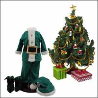 18 Doll Clothes & Accessories,xmas Elf Clothes,shoes,tree Set Fit American Girl