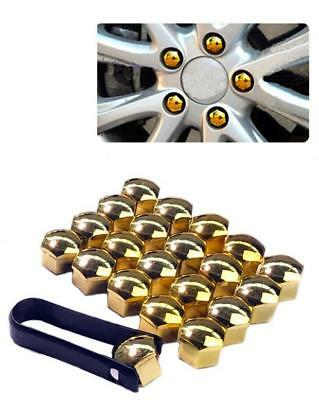 tool fits VOLKSWAGEN vw CADDY 17mm BLUE Mirror CHROME Wheel Nut Covers