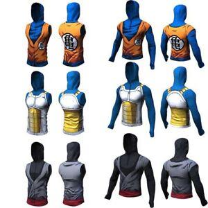 8c6ceb25 3D Dragon Ball Vegeta Goku Slim Fit T Shirt Sports Jogging Gym ...