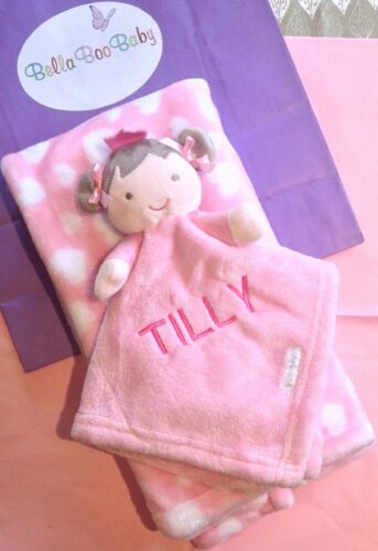 Luxury Personalised Baby Blanket And Comforter Princess Baby Gift Embroidered