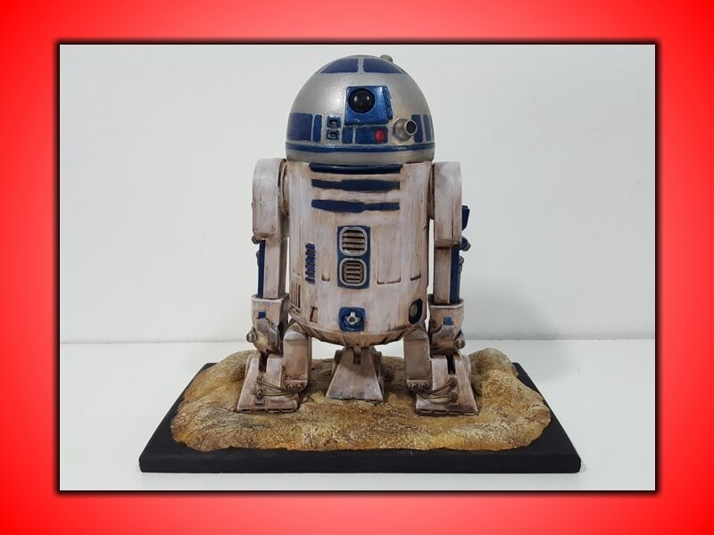 R2 D2 STAR WARS KIT IN VINILE SCALA 1/6 FINEUomoTE DIPINTO A MANO  PEZZO UNICO