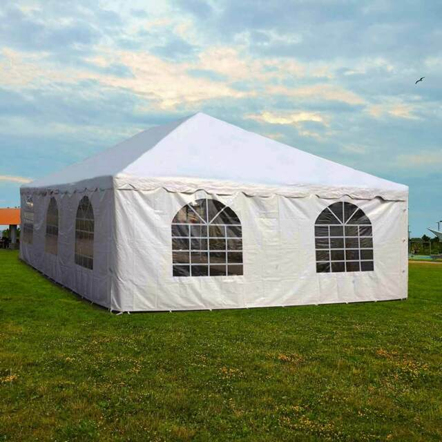 Party Tents For Sale 20x30 >> 20x30 Commercial Pole Tent Party Wedding Canopy With 2 Solid 2