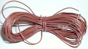 Model Railway/Railro<wbr/>ad Layout/Point Motor Wire etc 1x10m Roll 7/0.2mm 1.4A Brown