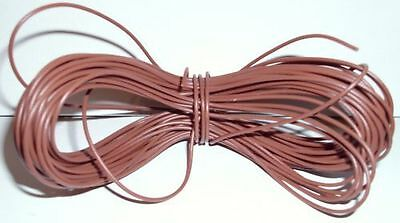 Fornito Model Railway/railroad Layout/point Motor Wire Etc 1x15m Roll 7/0.2mm 1.4a Brown
