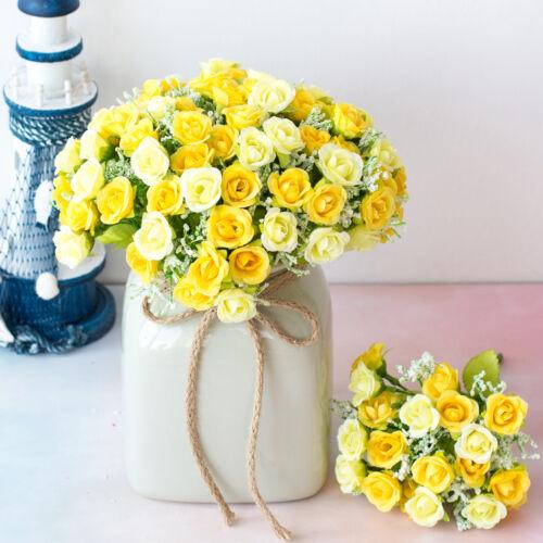 1 Bouquet 21 Head Artificial Flower Silk Rose Flowers Party Home Decor Gift DIY