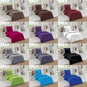 2tlg teilig bettw sche bettgarnitur baumwolle renforce 135x200 155x220 uni ebay. Black Bedroom Furniture Sets. Home Design Ideas