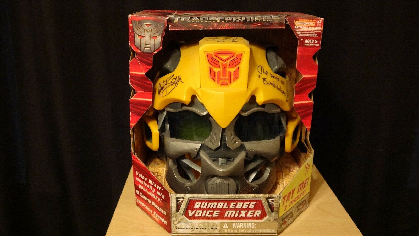 Hasbro Transformers Revenge of Fallen Bumblebee VoiceMixer Helmet SIGNED PROOF