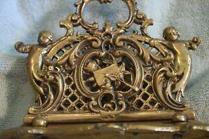 TP-040-Art-Nouveau-Desk-Top-Letter-Holder-with-Children-Decoration-Brass