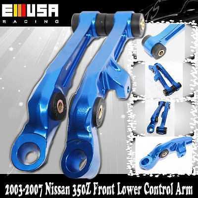 For 03-04  350Z 2D 3.5L Front Lower Control Arm CNC Billet upgrade bushing Blue