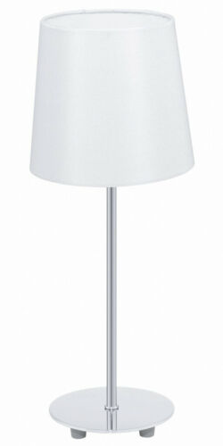 Klassische Tischleuchte Weiß E14 H40cm Leuchte Tisch Tischlampe Wandstrahler