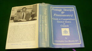 postage-stamps-Freemasonry-hard-cover-book-compendium-Canada-USA-1988-autograph