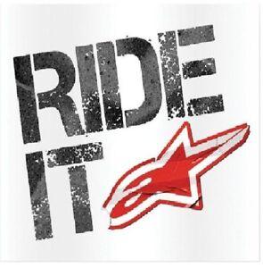 Alpinestars-RIDE-IT-sticker-vinyl-moto-motocross-dirt-road-mtb-Mountainbike