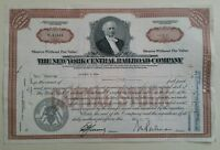 1957 The New York Central Railroad Company 1 Share Certificate Scripophily