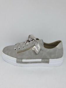 Super Qualität hell im Glanz Super süße Details zu RIEKER Damen Sneaker Schuhe Halbschuhe Grau N49C2-40 UK6 Gr.39  Neu