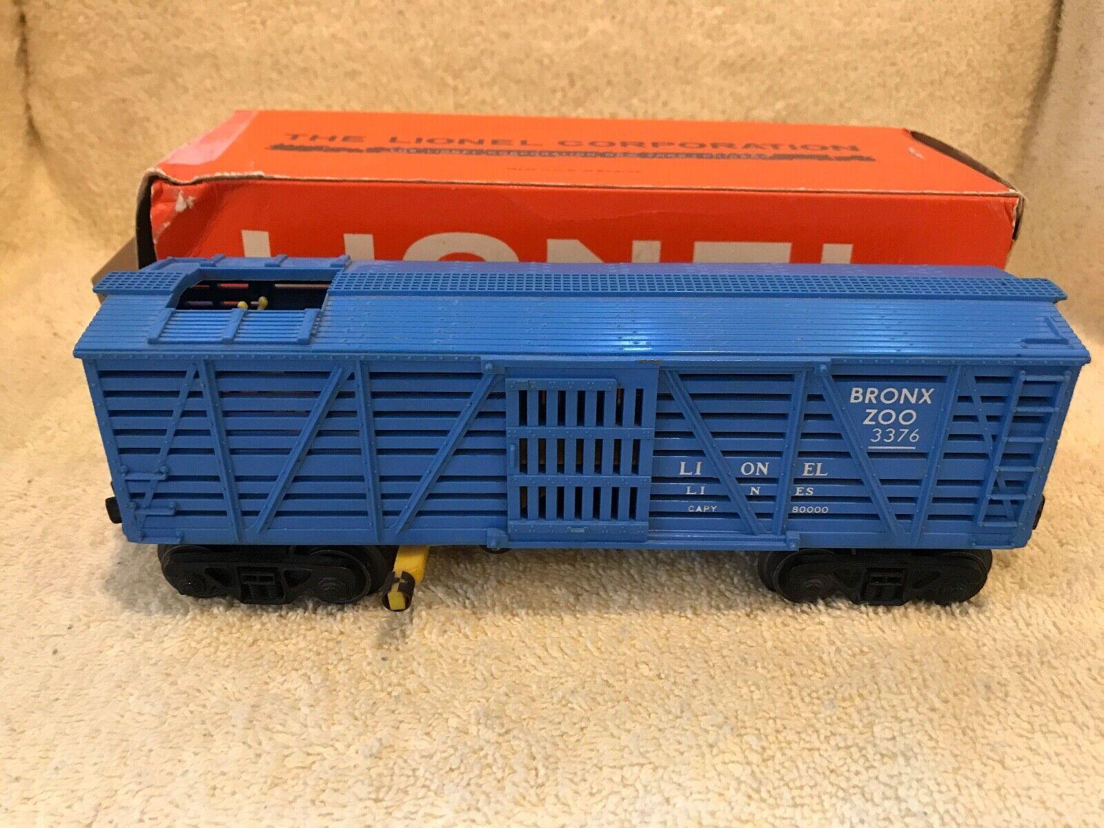 LIONEL 3376 BRONX ZOO GIRAFFE CARS- ORIGIONAL BOX