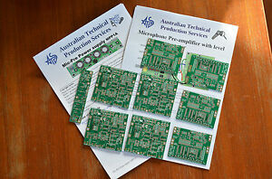 PCBs-for-microphone-Pre-amplifier-using-INA217-SSM2017-Four-pack