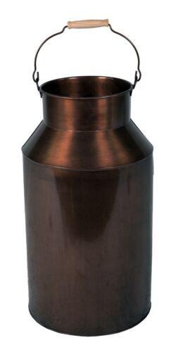Milchkanne groß mit Henkel 57 cm Deko-Kanne Metallkanne Schirmständer altkupfer
