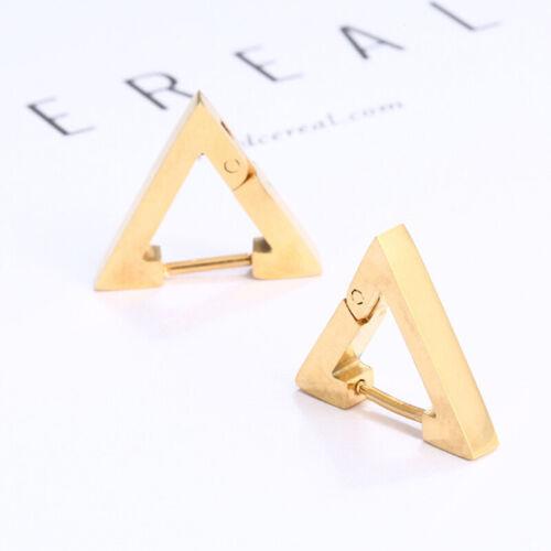 1pc Punk Rock Men Women Triangle Hoop Huggie Ear Stud Earring Fashion Jewellery