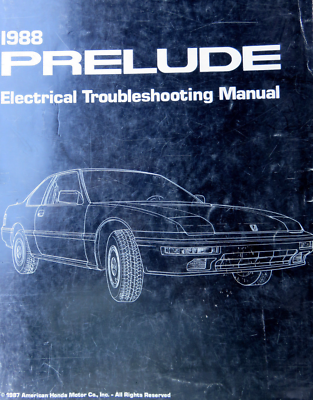 1988 Honda Prelude Electrical Troubleshooting Wiring ...