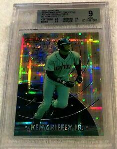 KEN-GRIFFEY-JR-1997-BOWMAN-039-S-BEST-PREVIEW-ATOMIC-REFRACTOR-BGS-9-POP-7-MARINERS