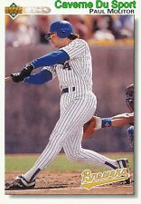 423 PAUL MOLITOR MILWAUKEE BREWERS BASEBALL CARD UPPER DECK 1992