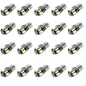20-X-Canbus-T10-194-5730-8-LED-SMD-Cool-White-Car-Side-Wedge-Light-Bulb-DC-12V