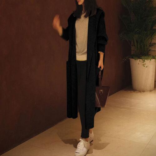 Women Long Sleeve Casual Slouch Loose Coat Winter Warm Kintted Outwear Overcoat