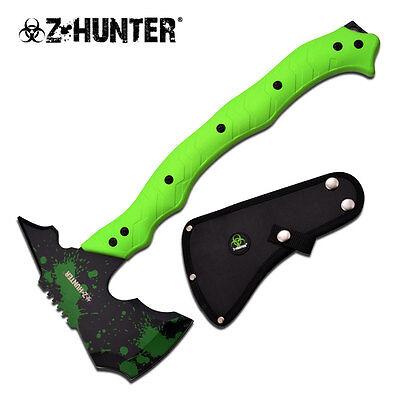 NEW! Z-Hunter Green Zombie Hacker Full Tang Tactical Axe Hatchet Tomahawk