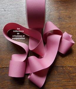 Ruban Gros Grain De Polyester Rose Framboise 4cm De Large Vendu Au Metre * Gamme ComplèTe D'Articles