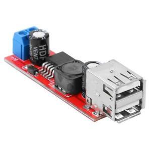 Dual-USB-Output-9V-12V-24V-36V-to-5VDC-DC-Car-Charger-3A-Step-down-Module-UK