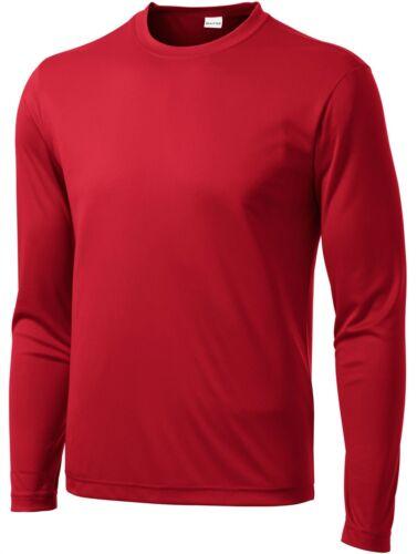 Mens Moisture Wicking Big /& Tall Long Sleeve Dri Fit Running T-shirts TST350LS