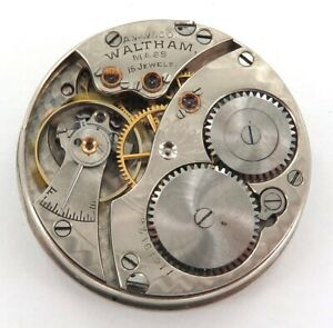 GREAT-MONTGOMERY-DIAL-1902-WALTHAM-0S-15J-POCKET-WATCH-MOVEMENT-amp-DIAL
