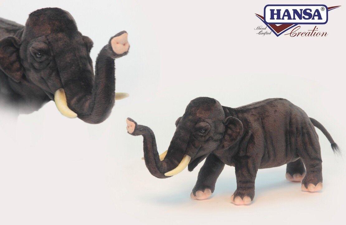 Peluche Elefante Asiatico 25x50x18 Cm Peluches Hansa PS 07603