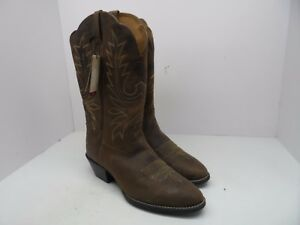 3eb6097652 Ariat Men's Heritage R Toe Western Cowboy Boot Distressed Brown Size ...