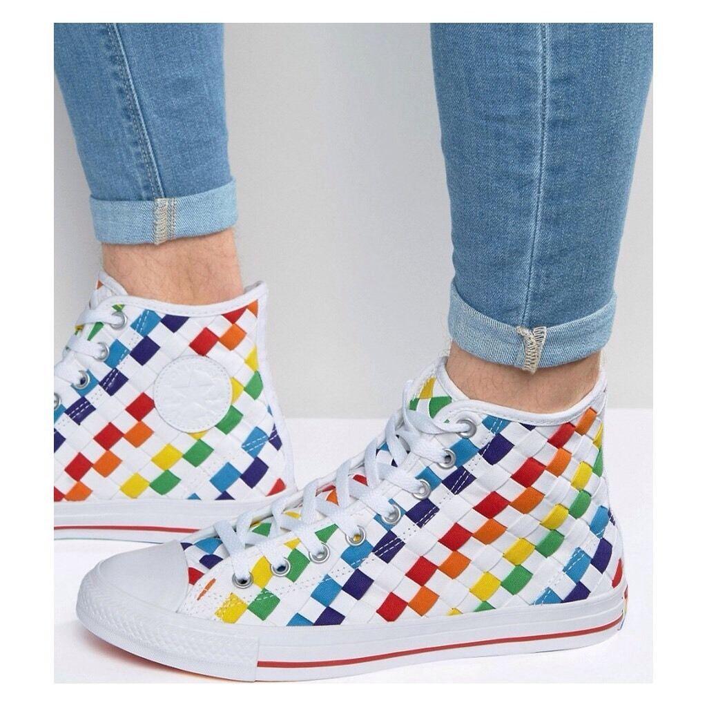 Converse Chuck Taylor Qs Hi Sneakers Multicolor Size 8 Rare